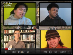 Screenshot of four diverse students from the Inclusive Concurrent Enrollment video